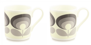 Orla Kiely 70's Flower Oval Grey Mug