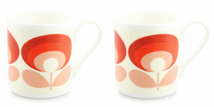 Orla Kiely 70's Flower Oval Red Mug