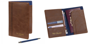 Ted Baker Brogue Travel Wallet with Pen