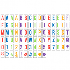 Coloured Extra Letter Pack for A4 Lightbox