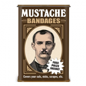 Moustache Plasters in Tin