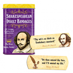 Shakespearean Insult Plasters in Tin