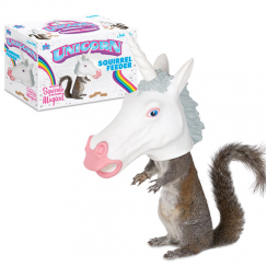Unicorn Head Squirrel Feeder