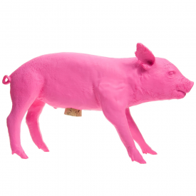 Reality Bank in the Form of a Pig Fluorescent Pink