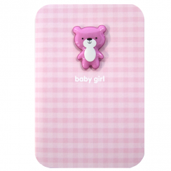 Baby Girl Jelly Magnet Card