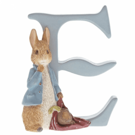 Alphabet Letter E Peter Rabbit with Onions Figurine