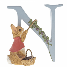 Alphabet Letter N Cotton-tail Figurine