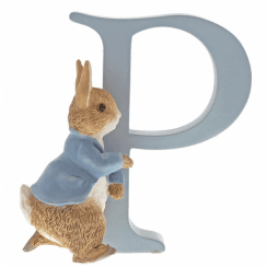 Alphabet Letter P Running Peter Rabbit Figurine