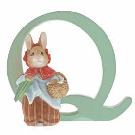 Alphabet Letter Q Mrs. Rabbit Figurine