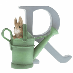 Alphabet Letter R Peter Rabbit in Watering Can Figurine