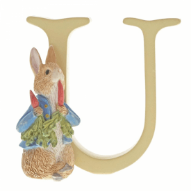 Alphabet Letter U Peter Rabbit with Radishes Figurine