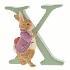Alphabet Letter X Old Mr. Benjamin Bunny Figurine