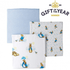 Peter Rabbit Baby Collection 3 Muslin Squares