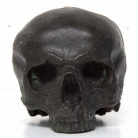 Black/Green Skull Candle