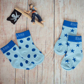Blue Pirate Matching Children's Socks