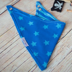 Blue Star Reversible Bandana Bib