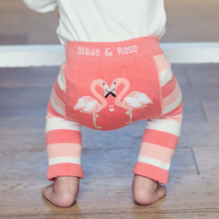 Coral Flamingo Baby Leggings