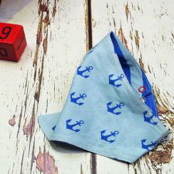 Nautical Reversible Bandana Bib