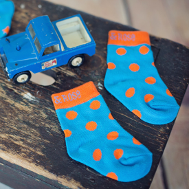 Orange Polka Dot Children's Socks