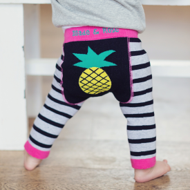 Pineapple Stripy Baby Leggings