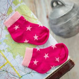 Pink Star & Stripes Children's Socks