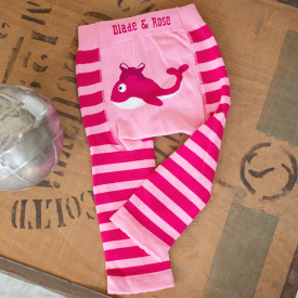 Pink Whale Children's Leggings