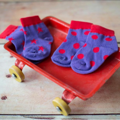 Purple Polka Dots Children's Socks