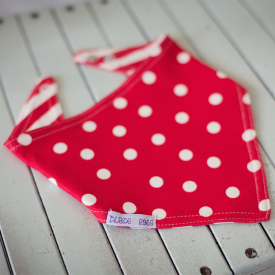 Red Polka Dot Reversible Bandana Bib