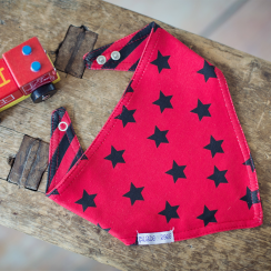 Red Star Reversible Bandana Bib
