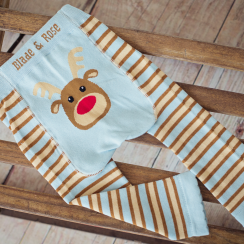 Reindeer Stripy Children's Leggings