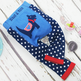 Scottie Dog Blue Leggings