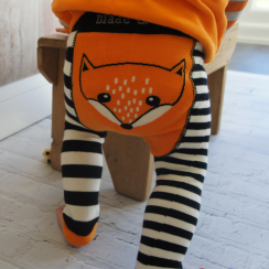 Stripey Fox Baby Leggings