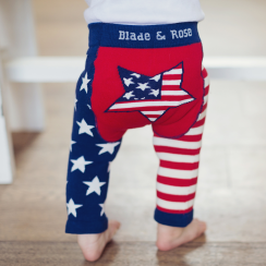 USA Flag Baby Leggings