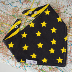 Yellow Star Reversible Bandana Bib