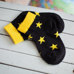 Yellow Star & Stripes Children's Socks