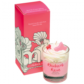 Rhubarb Rave, Piped Glass Candle