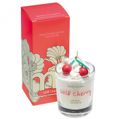Wild Cherry Piped Glass Candle