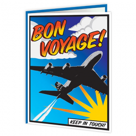 Bon Voyage Pop Art Card