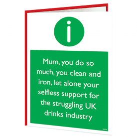 Drinks Industry Mum Warning Card