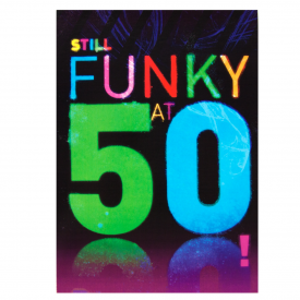 Funky at 50 Disco Card