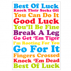 Go for it, Good Luck Card