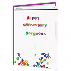 Happy Anniversary Gorgeous Fridge Card