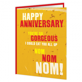 Happy Anniversary Nom Nom Nom Card