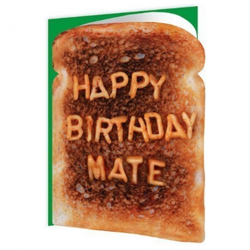 Happy Birthday Mate Toast Card