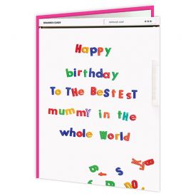 Happy Birthday Mummy Fridge Card