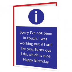 I Still Like You Birthday Warning Card