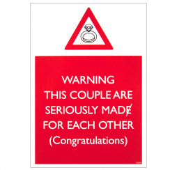 Mad for Each Other Warning Card