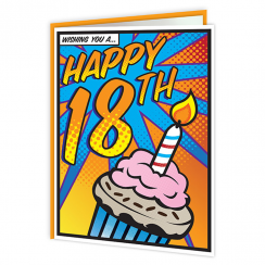Pop Art 18th Birthday Card