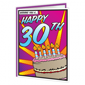 Pop Art 30th Birthday Card