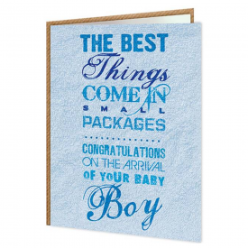 Small Packages Boy Card